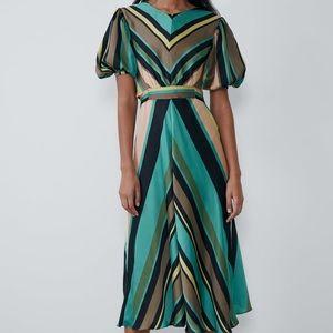 Zara Striped Multicolor Dress